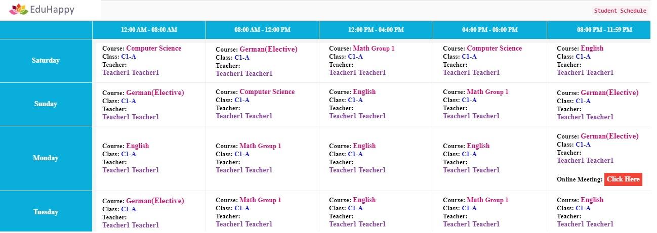Schedule Management System